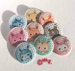 .: Eeveelutions button pins :. by PlushieLemon