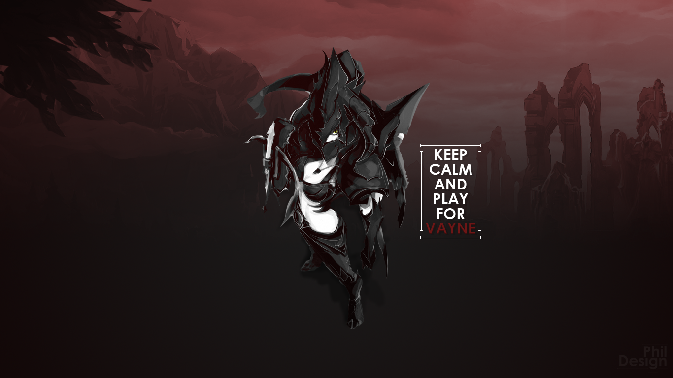 Wallpaper Vayne League Of Legends Dark by philhenr on