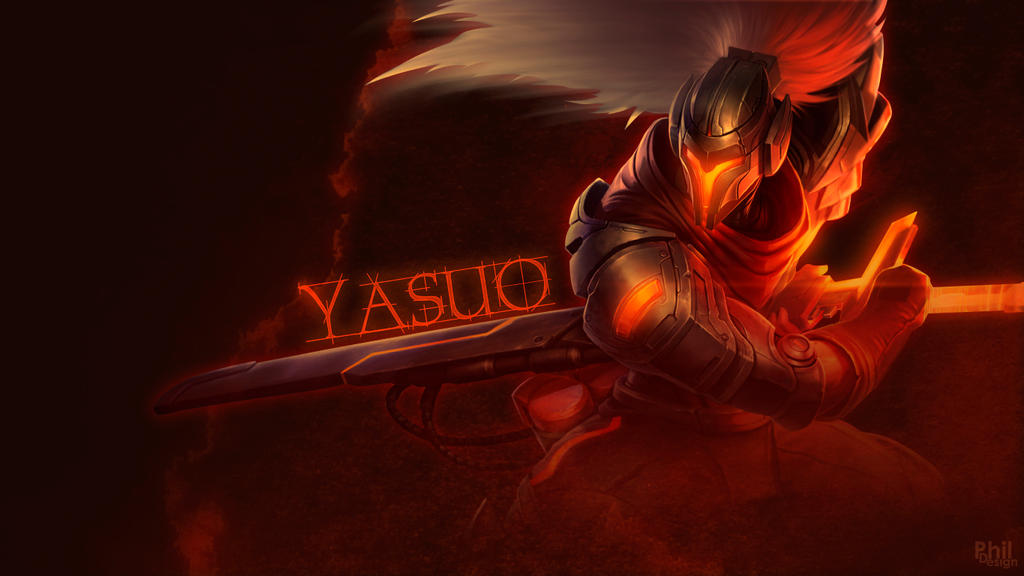 Yasuo League Of Legends Wallpaper By Philhenr