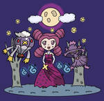 FANTINA AND HER POKEMON by EspiArt1