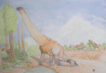 Brachiosaurus and friends by zachrobinson