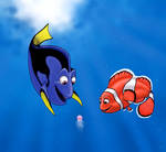 Dory and Marlin..and squishy..