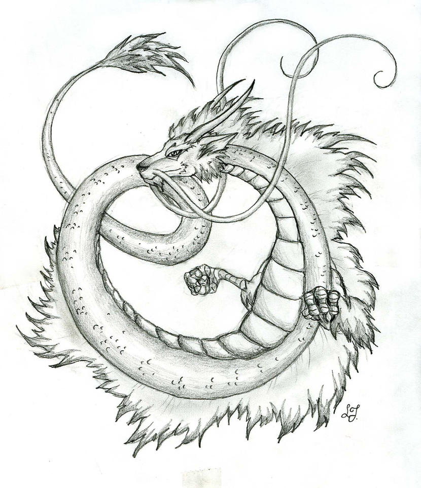 Japanese Dragon by Lizzy23 on