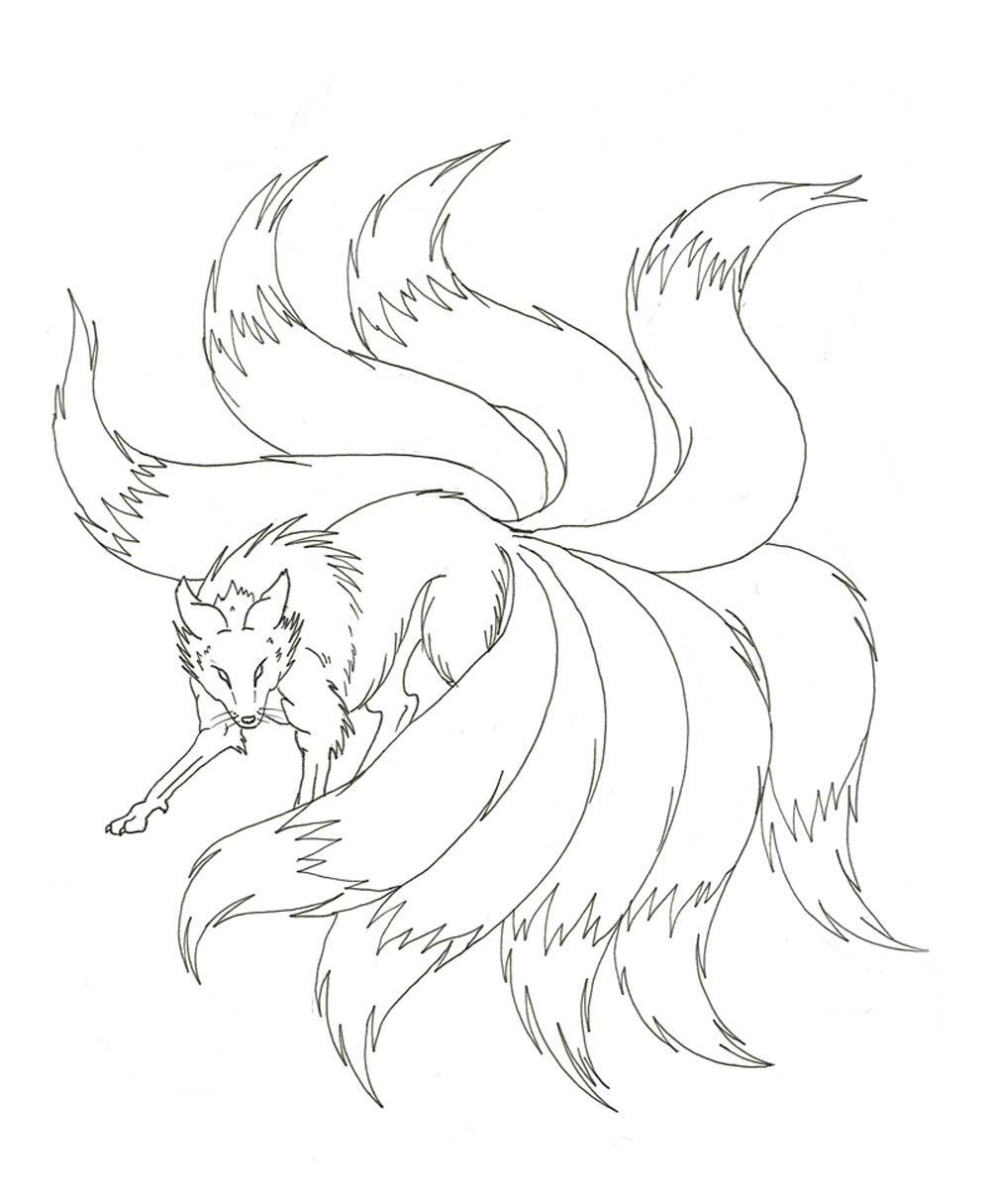 Nine Tailed Fox Naruto Drawing