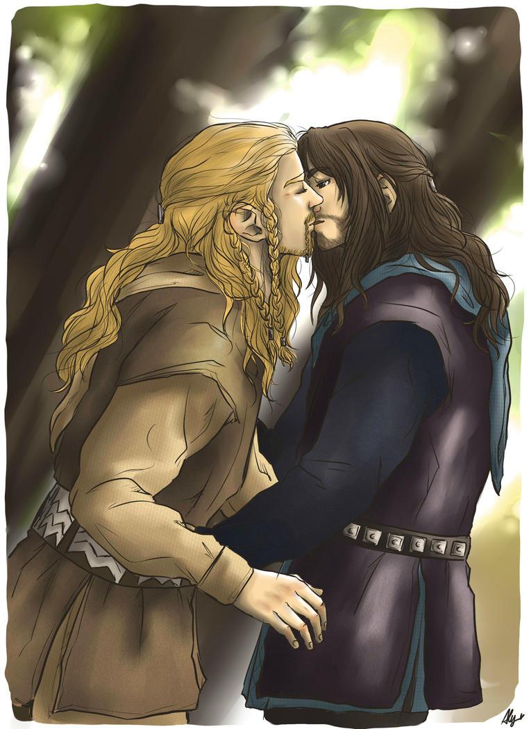 A sweet kiss by AlyTheKitten