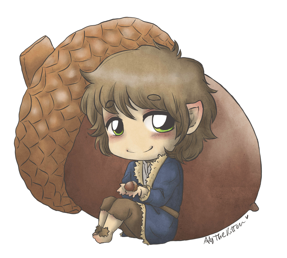 Bilbo and the Acorn by AlyTheKitten