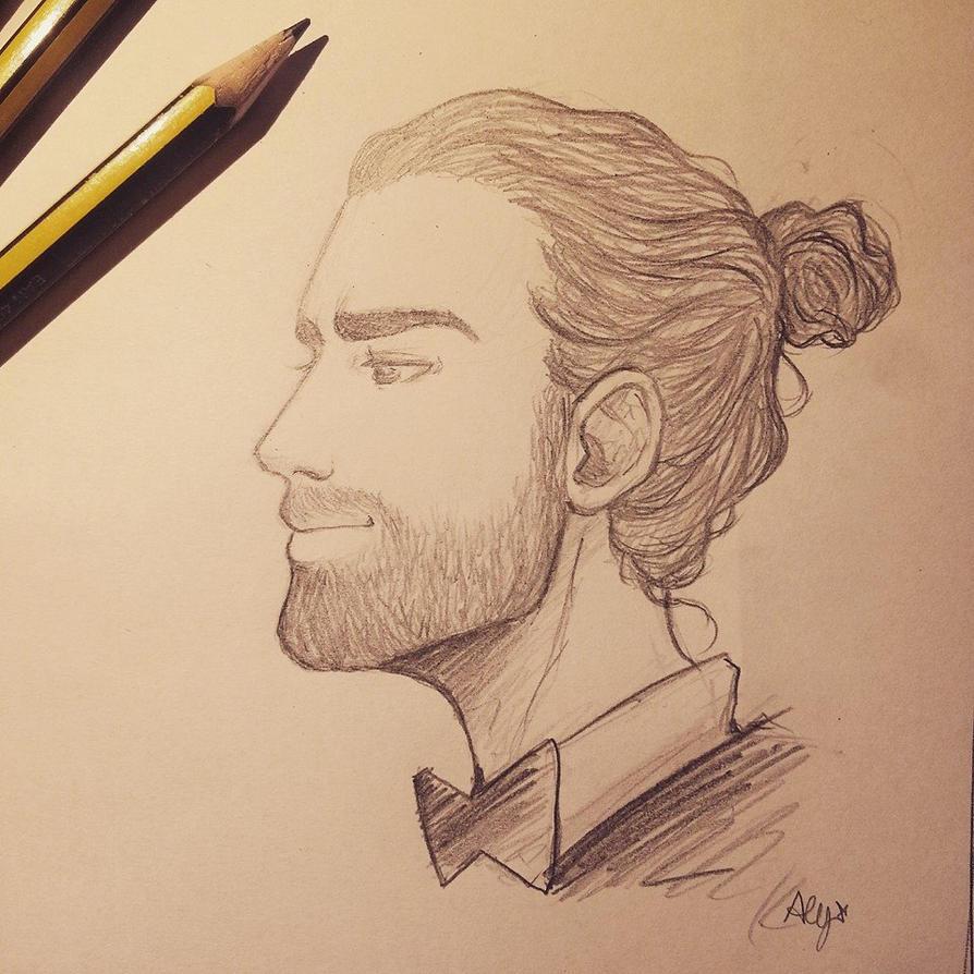Aidan Turner_pencilsketch by AlyTheKitten