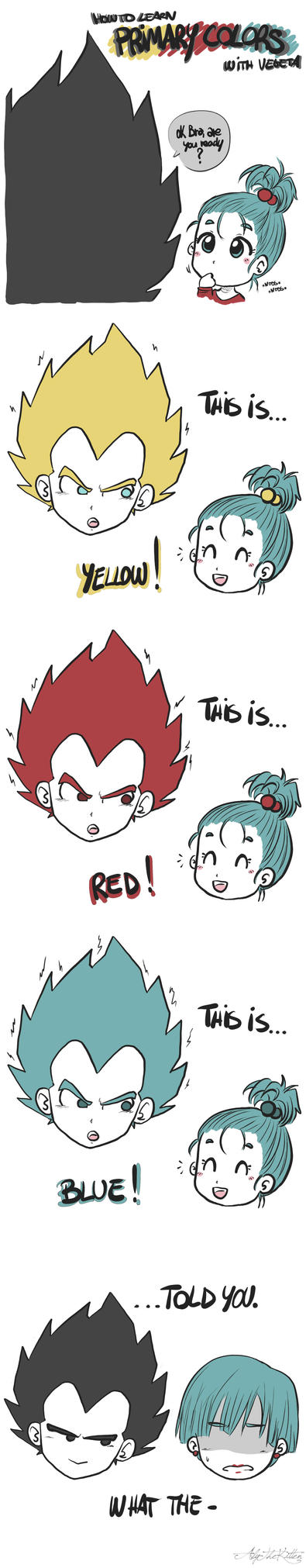 Primary Colors with Vegeta by AlyTheKitten
