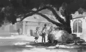 sketch by nguyen quoc hieu / tree / children