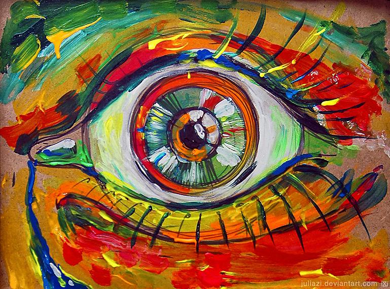 an eye by JuliaZi