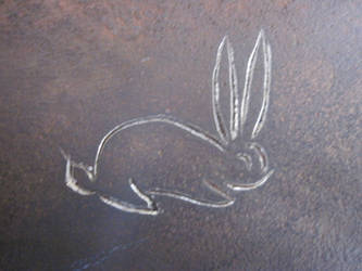 Rabbit Engraving closeup