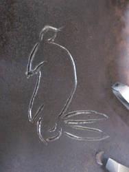 Rabbit Engraving closeup 2