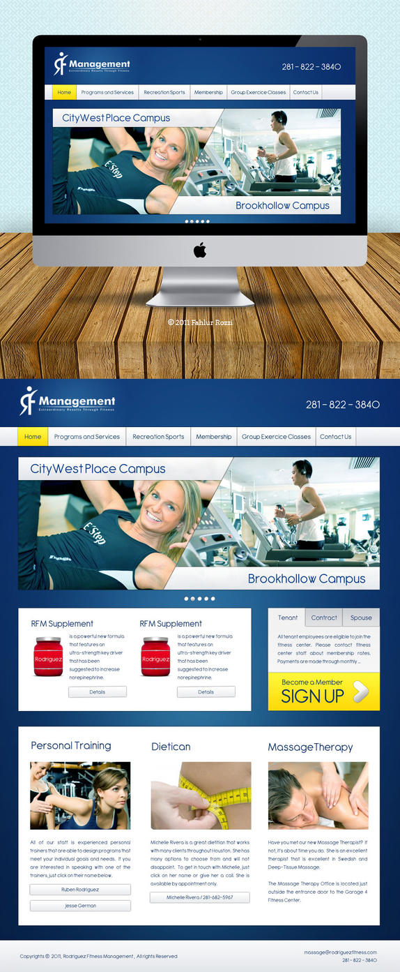 RF Management Home Page Design By Vennerconcept On DeviantART