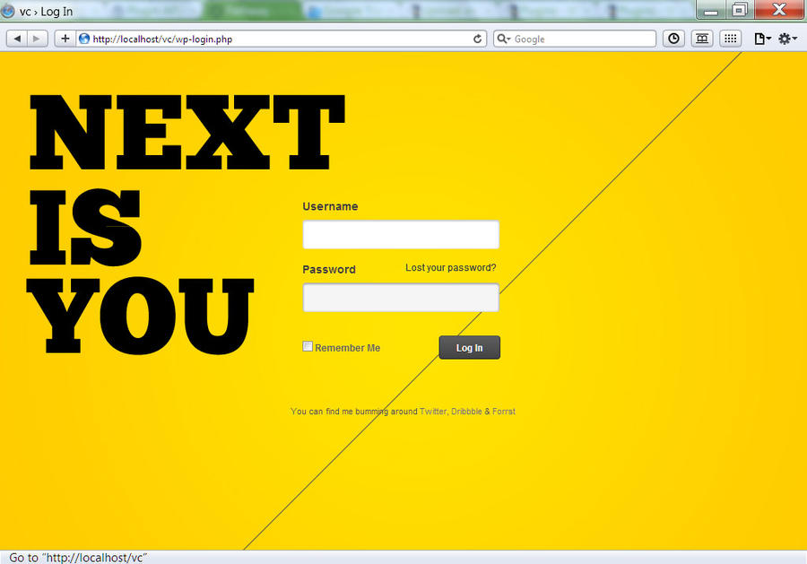Pathway WP Login - NEXT IS YOU by vennerconcept
