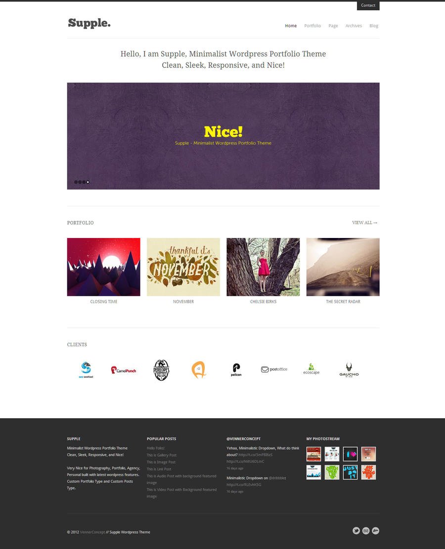Supple Responsive WordPress Theme by vennerconcept on ...