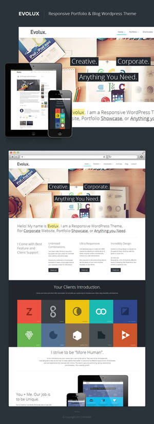 Evolux - Portfolio and Blog Wordpress Theme