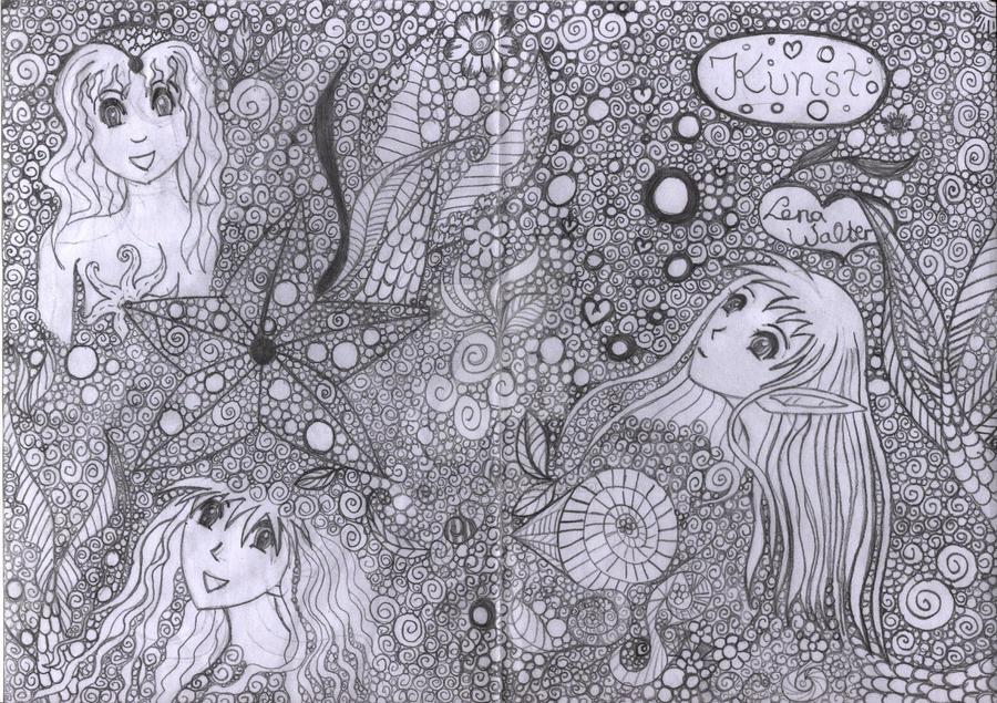 Bleistiftzeichnung Meerjungfrauen By Calitha Lena On Deviantart