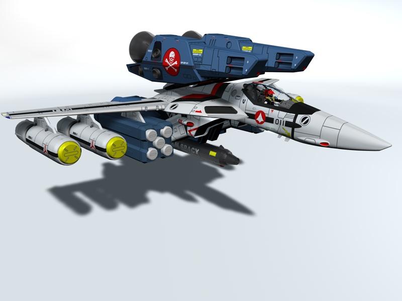 Macross VF-1S with Fastpacks by Rodavan