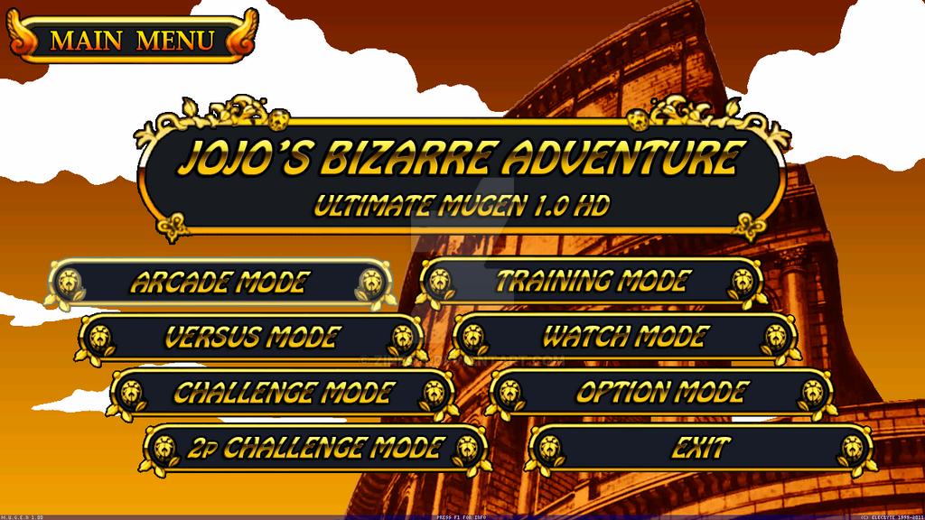 Jojo's Bizarre Adventure : Ultimate Mugen HD by Zinesis on