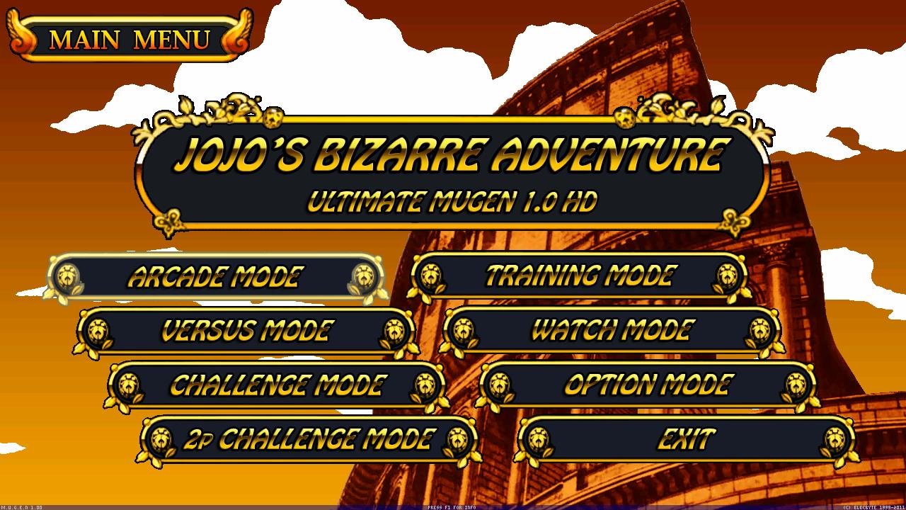 Jojo's Bizarre Adventure : Ultimate Mugen HD - [ FULL GAMES