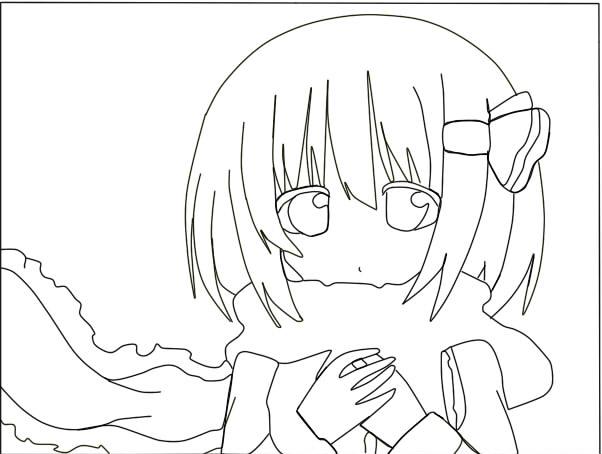 Anime girl lineart by inuwolfgod on DeviantArt
