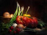 Still life with vegetables by kopalov