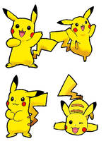 Pikachu Practice by 53rdturtle