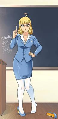 Teacher Elvina magic class variant 1