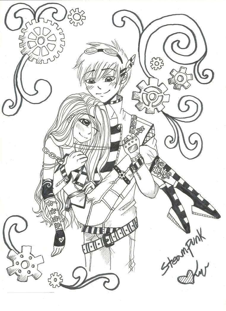 SteamPunk Angels by Kallie-Amma-Doodle