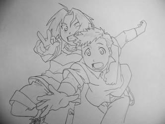Edward and Alphonse -lineart-