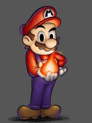 Mario getting his fire hand by Raymidius