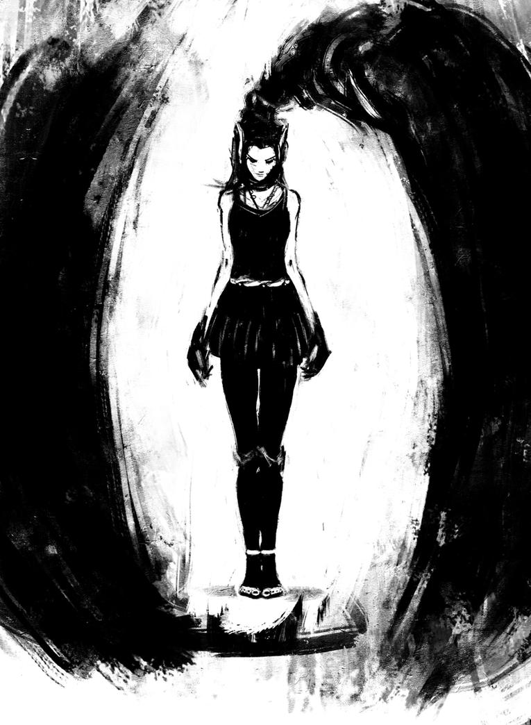 girl sketch 2 by malev01ence