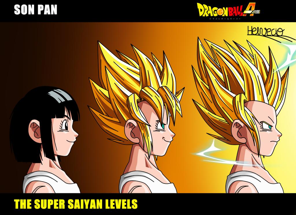 Son Pan The Super Saiyan Levels DBA By HelvecioBNF