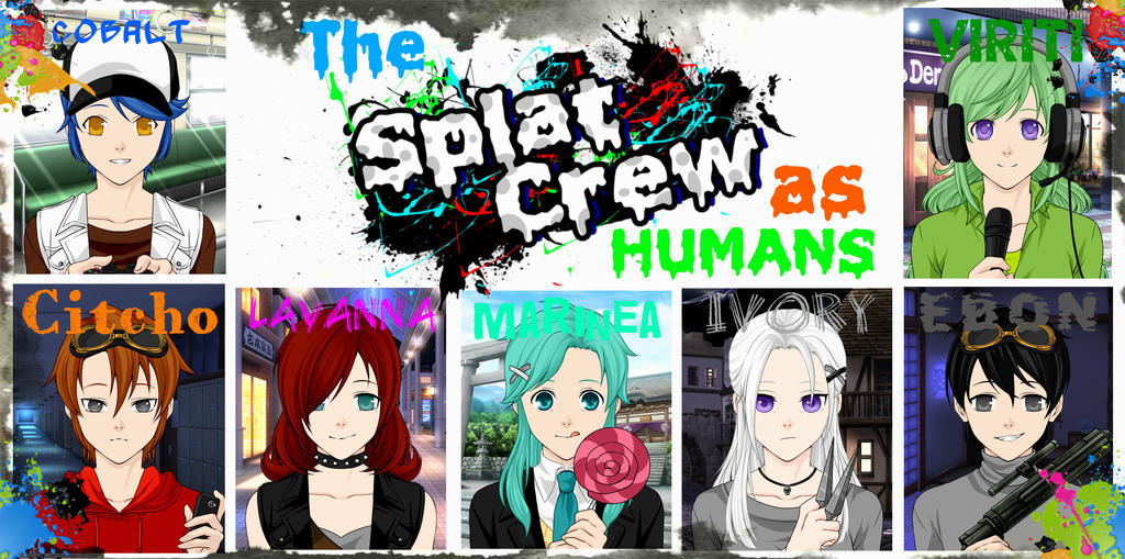 The Splat Crew (Human) by frozenninjaturtle