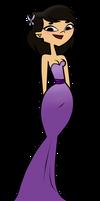 Sky in a Purple Prom Dress by EvaHeartsArt
