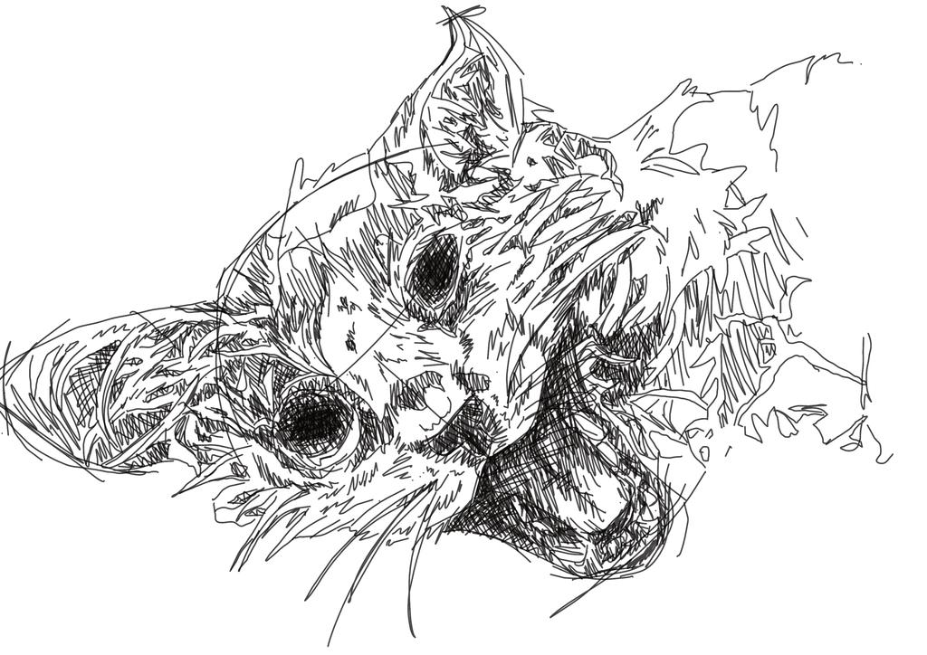 Dead kitten by FamineFamine