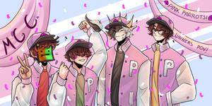 Pink Parrots -MCC FanArt(TapL,Ranboo,Tubbo,Wilbur)