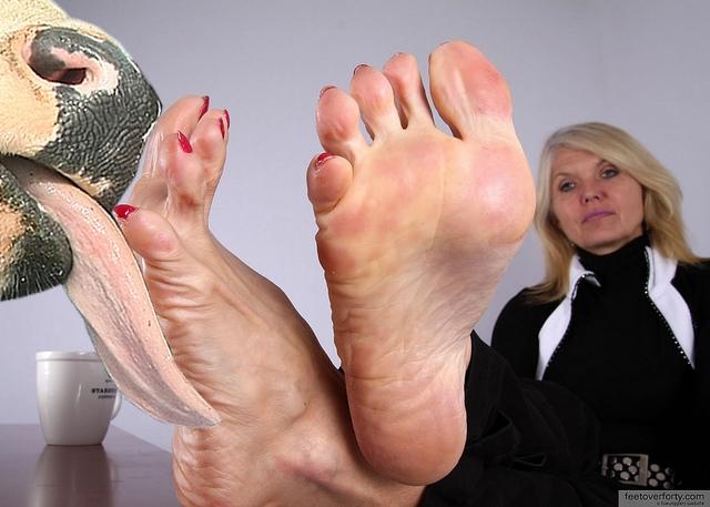 Feet licking mature