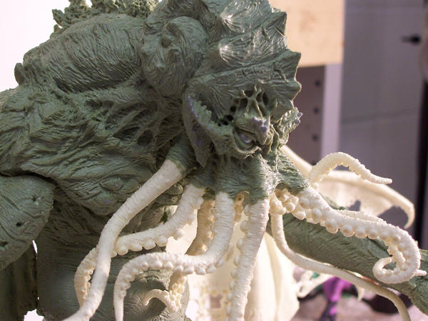 Cthulhu Statue head by Trapjaw