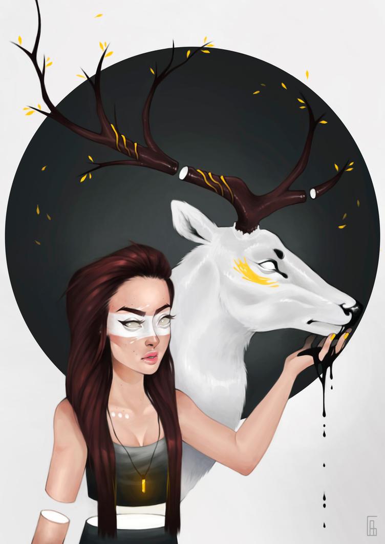 Porcelain Deer by glosh