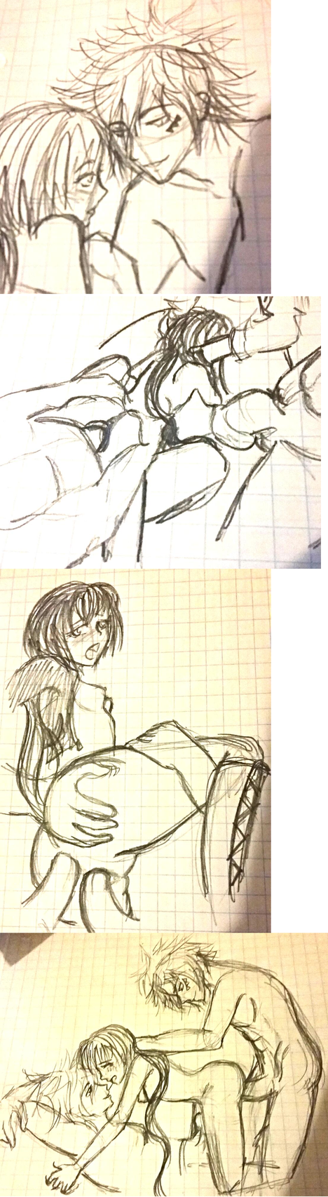 Byakuran x Yuni mature sketch dump by IllusionedTime