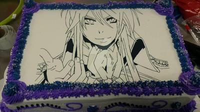 Gakupo Birthday Cake by YakuzaCupcake