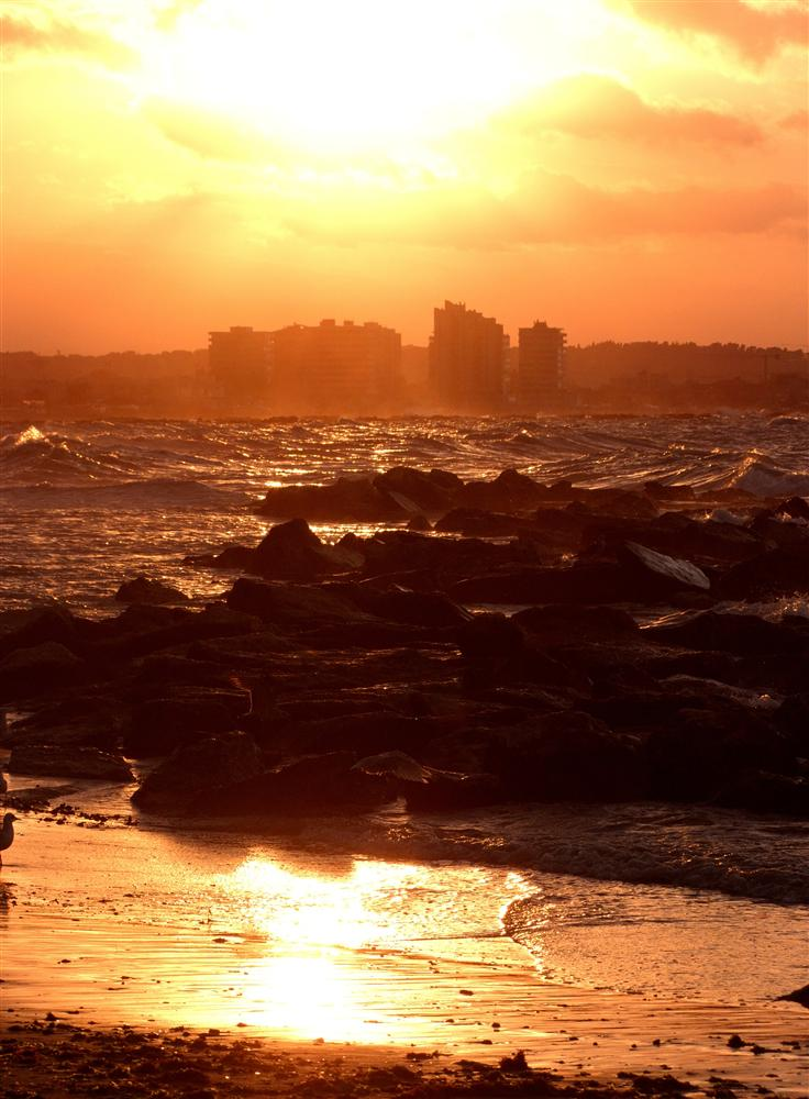 Cattolica Italy Pictures Sunset in Cattolica Italy by