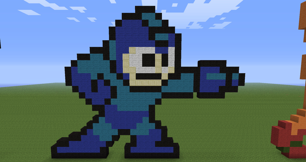 Minecraft Mega Man by KuroDrago on DeviantArt