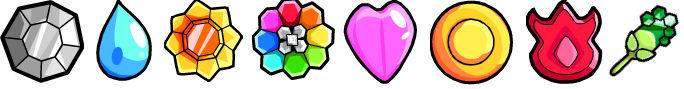Pokemon- Kanto Gym Badges