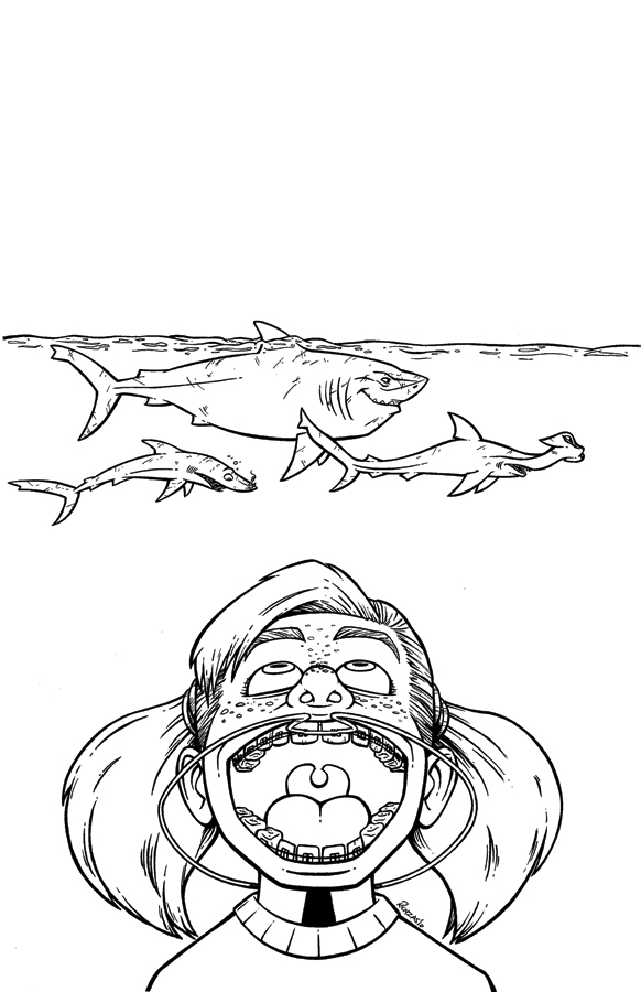 Finding Nemo Coloring Pages Darla