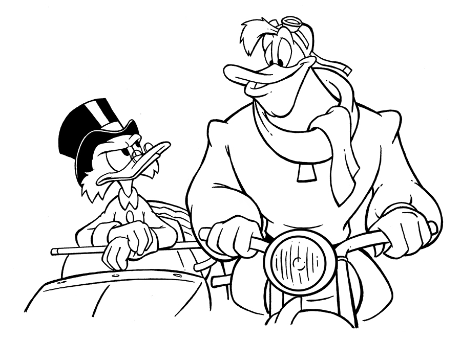 Scrooge and Launchpad by AnimalQwacker