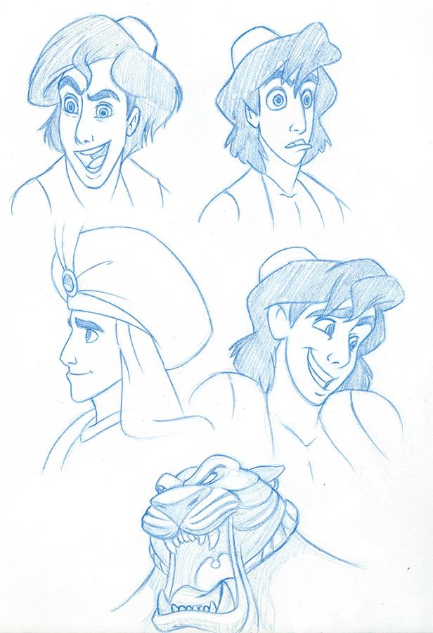 Aladdin Studies 1 by AnimalQwacker