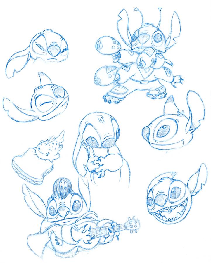 Stitch Studies by AnimalQwacker