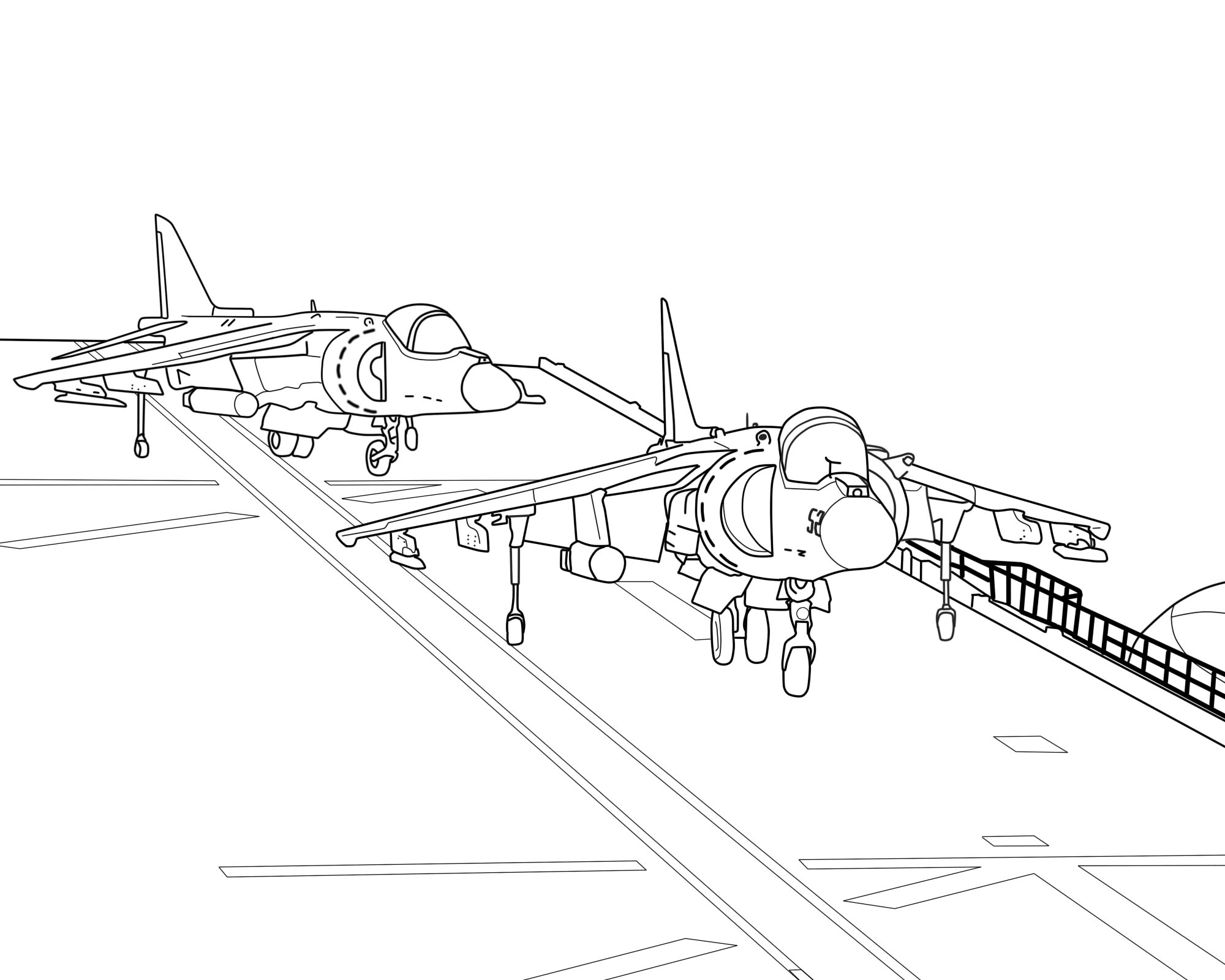 Line Drawing Jet : Line art av b harrier on aircraft carrier by oleedueolo
